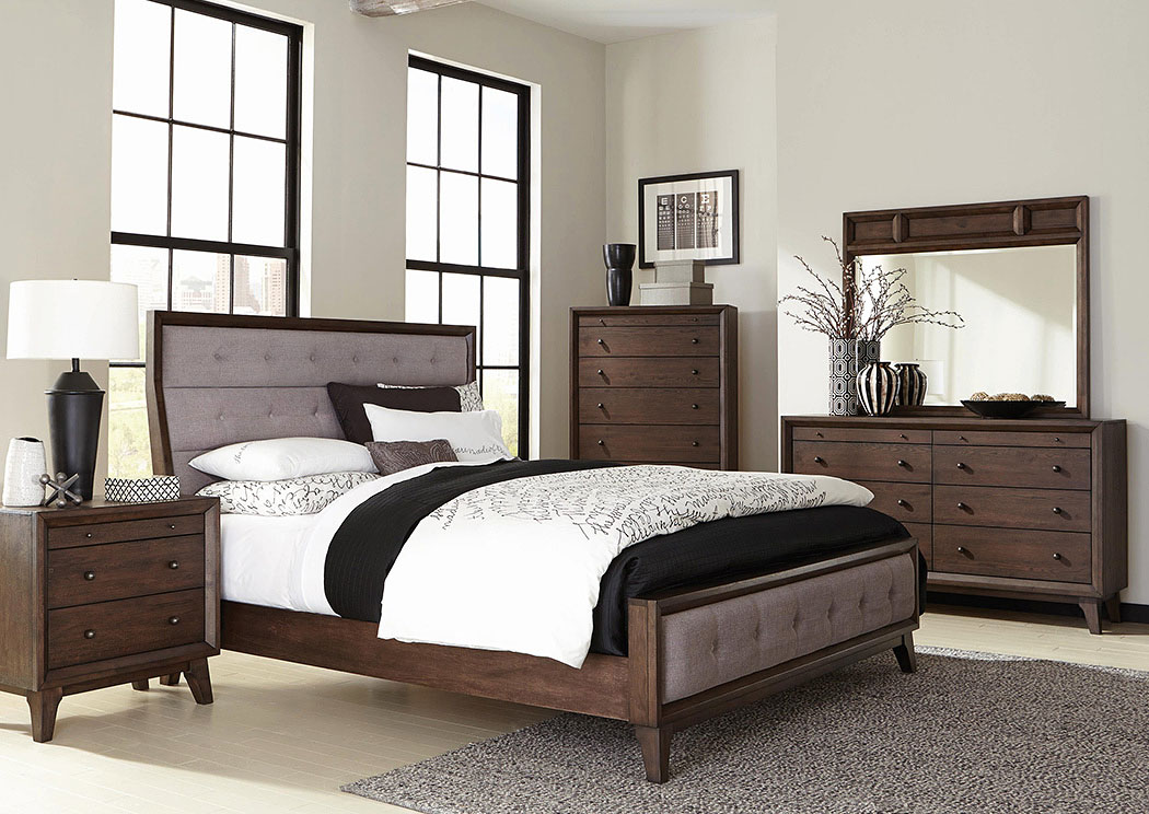 Best Buy Furniture and Mattress Eastern King Upholstered Panel Bed w ...