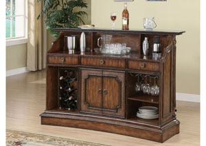 Image for Akaroa Traditional Ornate Brown Bar Unit