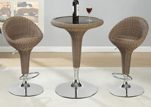 Chrome Bar Table & Adjustable Bar Stool