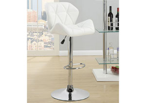 White Adjustable Bar Stools (Set Of Two)