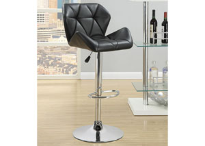 Black Adjustable Bar Stools (Set Of Two)