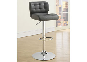 Grey Adjustable Bar Stools (Set Of Two)