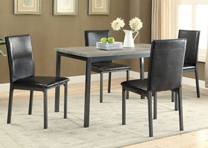 Black Side Chair (Set of 2)