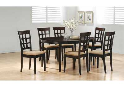 Cappuccino Oval Dining Table,Coaster Furniture