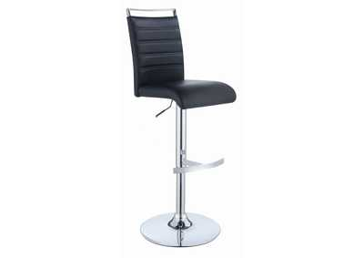 Black/Chrome Bar Stool