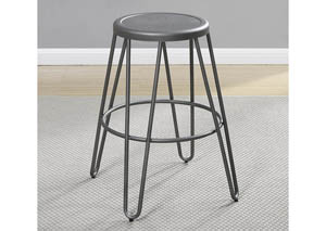 Gunmetal Counter Height Stool (Set of 4)