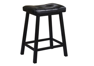 Black Counter Height Stool (Set of 2)