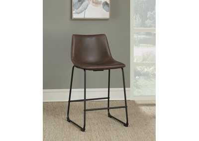 Brown Counter Height Stool (Set of 2)