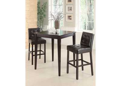 Cappuccino & Cappuccino Bar Chair (Set of 2)