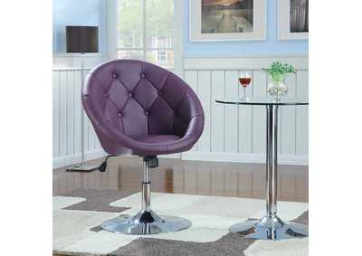 Pink/ Purple & Chrome Swivel Chair
