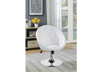 White & Chrome Swivel Chair