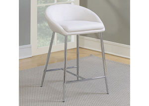 White Counter Height Stool (Set of 2)