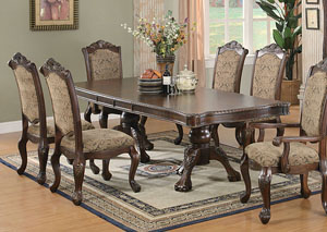 Andrea Brown Cherry Dining Table,Coaster Furniture