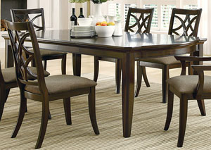 Espresso Dining Table w/ 2 Extension Leaves