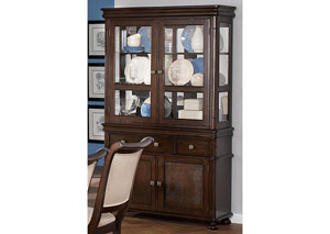 Harris Dark Cherry Buffet & Hutch,Coaster Furniture