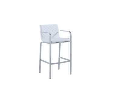 White/Chrome Bar Stool