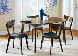 Walnut Dining Table w/ 6 Chairs