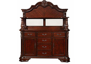 Dark Cherry Buffet / Hutch