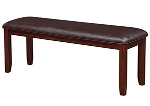 Dark Brown & Dark Cherry Bench
