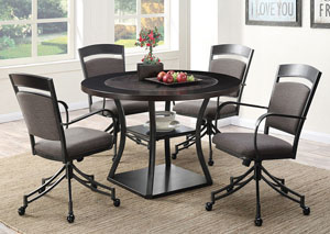 Brown Dining Table w/4 Side Chairs