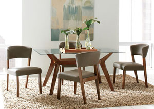 Walnut Dining Table w/4 Side Chairs