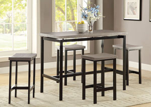 Black 5 PC Dining Set