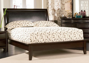 Phoenix Cappuccino Platform Queen Bed,Coaster Furniture