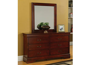 Louis Philippe Cherry Mirror,Coaster Furniture