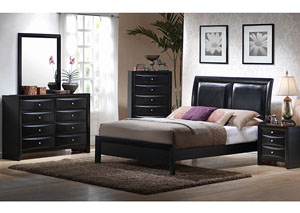 Briana Black King Bed,Coaster Furniture
