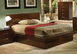 Jessica Cappuccino King Bed,Coaster Furniture