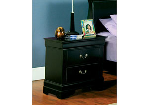 Louis Philippe Black Nightstand,Coaster Furniture