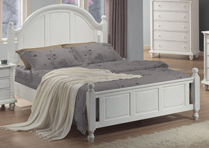 Kayla White Full Bed,Coaster Furniture