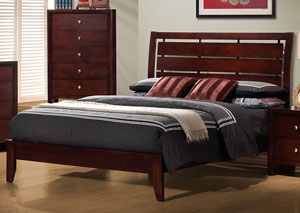 Serenity Merlot California King Bed