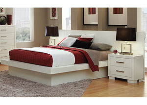 Jessica White King Bed
