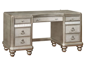 Metallic Platinum Vanity Desk