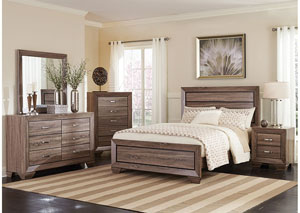 Eastern King Bed w/Dresser, Mirror & Nightstand