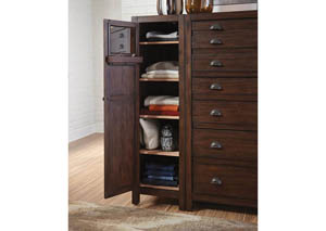 Acacia/Cocoa Medium Left Wardrobe Cabinet