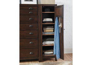 Acacia/Cocoa Medium Right Wardrobe Cabinet