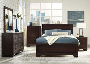 Dark Cocoa California King Panel Bed