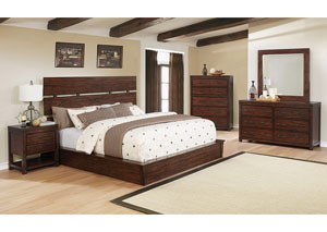 Artesia Dark Cocoa Queen Platform Bed