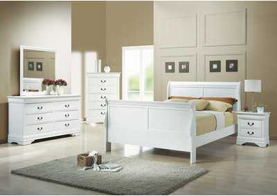 Louis Philippe White Twin Bed,Coaster Furniture