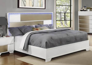 Blanco & Sterling Queen Platform Bed,Coaster Furniture