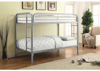 Silver Twin/Twin Metal Bunk Bed