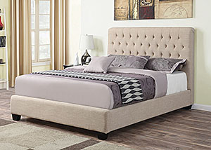 Cream & Black Full Size Bed