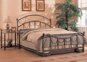 Georgia Brass Metal Queen Bed (Requires Additional Frame)