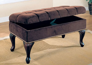 Dark Brown & Cappuccino Bench,Coaster Furniture