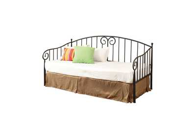 Image for Pampas Traditional Black Metal Twin Daybed