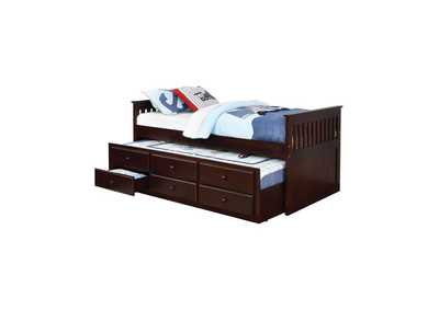 Image for Tamarind Transitional Cappuccino Twin Daybed W/ Trundle