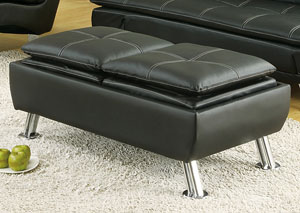 Black Storage Ottoman,Coaster Furniture