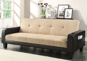Khaki & Brown Sofa Bed,Coaster Furniture
